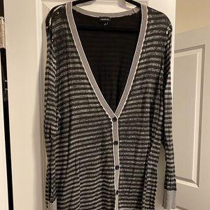 Torrid Size 3 stripped button cardigan